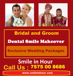 Wedding Smile Makeover. Bride and Groom Dental Smile Makeover Wedding Packages Ahmedabad, India Dr Bharat Agravat Smile in Hour
