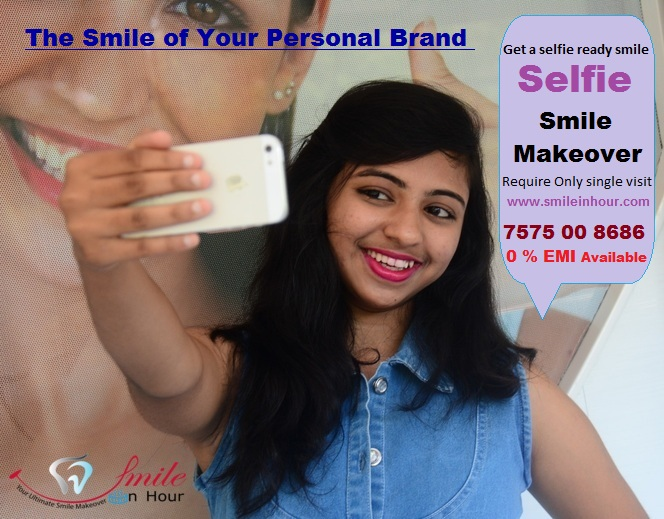 selfie smile makeover cost in Ahmedabad, Gujarat, India by Smile in hour cosmetic clinic Ahmedabad